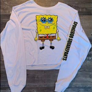 never worn cropped sponge bob tee
